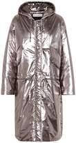 Golden Goose Metallic puffer coat
