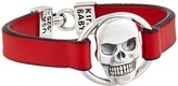 King Baby Studio Skull Centerpiece Leather Strap Bracelet Bracelet