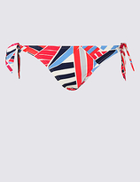 M&S Collection Printed Hipster Bikini Bottoms