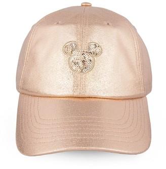 Disney Mickey Mouse Rose Gold Baseball Cap for Women