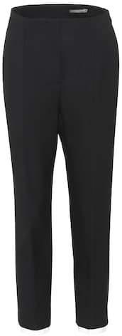 Alexander McQueen Wool and silk-blend trousers