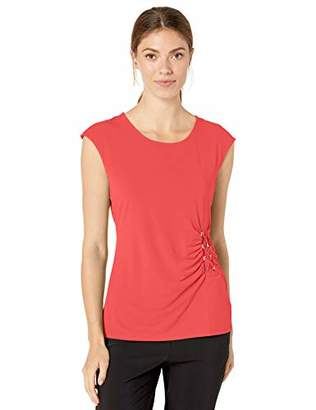 Calvin Klein Women's Sleeveless TOP with Lacing
