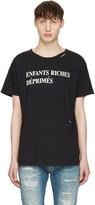 Enfants Riches Deprimes Black Classic Logo T-shirt