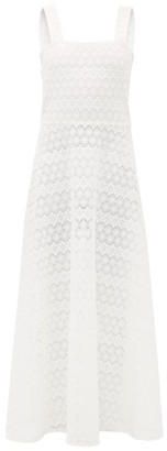 Gioia Bini Lucinda Macrame-lace Maxi Dress - Womens - White