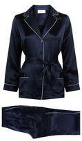 Marjolaine Contrast Trim Silk Pyjama Set