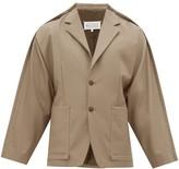 Maison Margiela - Exposed Seam Twill Jacket - Mens - Brown