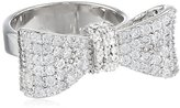 King Baby Studio Bow Ring Pave Cubic Zirconia, Size 6
