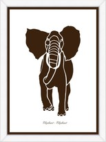The Well Appointed House Brown Elephant Framed Child۪s Wall Art-Available in a Variety of Sizes