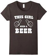 Men's This Girl Needs a Beer Irish St. Patrick's day t-shirt XL