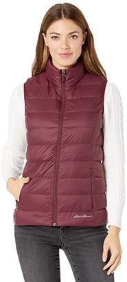 Eddie Bauer Cirruslite Down Vest (Dark Berry) Women's Clothing