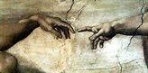 Michelangelo 1art1 Posters Buonarroti Poster Art Print - Creazione Adamo (particolare) (20 x 14 inches)