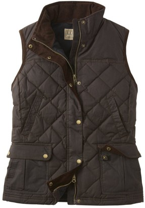 L.L. Bean Women's L.L.Bean Upcountry Waxed Cotton Down Vest