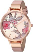Nine West Women's Quartz Metal and Polyurethane Dress Watch, Color:Pink (Model: NW/2044RGPK)