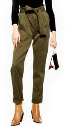 Topshop Rory Paperbag Waist Utility Trousers