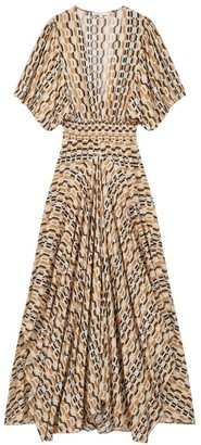 Maje Rachelli Printed Maxi Dress