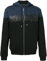 Versace Greca Key hooded sweatshirt - men - Cotton - M