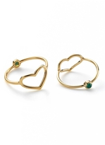 Jordan Askill Gold Heart and Emerald Ring