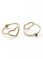 Jordan Askill Gold Heart and Emerald Ring