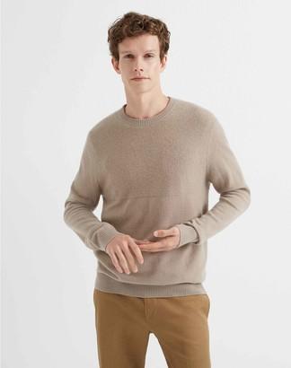 Club Monaco Cashmere Block Stitch Sweater