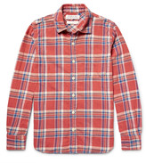 Remi Relief Embellished Checked Cotton-Flannel Shirt