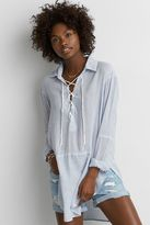American Eagle Outfitters AE Lace-up Tunic Shirt