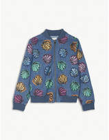 Stella McCartney Abbot shells and sequins bomber jacket 4-16 years