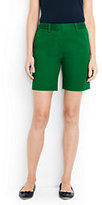 """Lands' End Women's Mid Rise 7"""" Chino Shorts-White"""