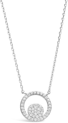 Sterling Forever Sterling Silver Cubic Zirconia Circle Necklace