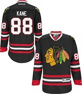 Reebok Chicago Blackhawks # 88 Patrick Kane Black Premier Stitched Jersey PE100063