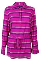 Tommy Hilfiger Women's Striped Belted Tunic Top (M, Magenta Magic)