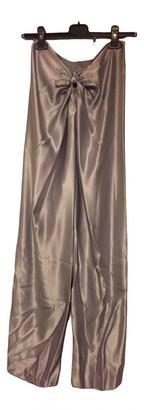 STEPHAN JANSON Grey Silk Trousers for Women