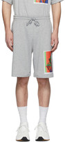 Dries Van Noten SSENSE Exclusive Grey Mika Ninagawa Edition Print Shorts