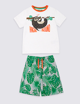 Marks and Spencer Printed Short Pyjamas (9 Months - 8 Years)