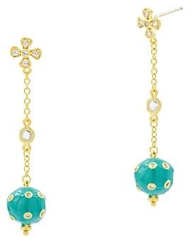 Freida Rothman Harmony Ball Drop Earrings in 14K Gold-Plated Sterling Silver