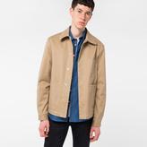 Paul Smith Men's Sand Cotton-Twill Stretch Chore Jacket