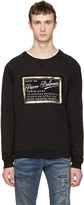 Pierre Balmain Black Logo Print Pullover