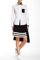 Y-3 Asymmetrical Pleated Skirt