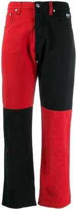 MSGM two-toned straight leg jeans