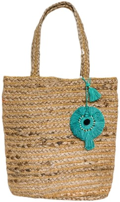 Bette Bellini Jute Bag With Turquoise Tassel