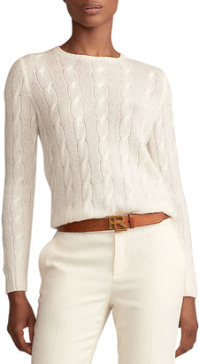 Ralph Lauren Collection Crewneck Cashmere Cable-Knit Sweater