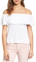 Splendid Women's Off The Shoulder Ruffle Top