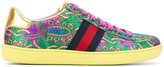Gucci floral embroidered sneakers - women - Leather/Foam Rubber - 36.5