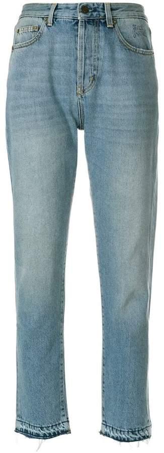 Saint Laurent light-wash fitted jeans