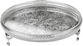 Corbell Silver Company Inc. Round Gallery Tray - silver