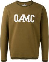 Oamc Isle logo sweatshirt - men - Cotton/Polyamide/Spandex/Elastane - S