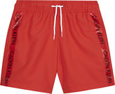 Calvin Klein Logo tape swim shorts 4-16 years