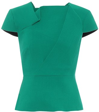 Roland Mouret Exclusive to Mytheresa a Alanya wool-crApe top