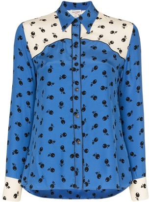 HVN Kate fruit-print silk shirt