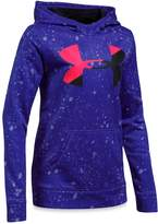 Under Armour Girls' Paint-Splatter-Print Big Logo Hoodie