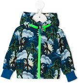 Stella McCartney tropical print rain jacket - kids - Cotton/Polyester - 3 mth